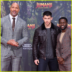 Nick Jonas & 'Jumanji' Cast Step Out at German Premiere