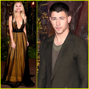 Nick Jonas & Madison Iseman Team Up for 'Jumanji' Premiere