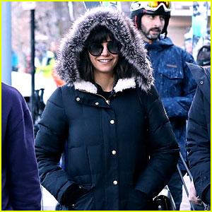 Nina Dobrev Bundles Up for Shopping Trip in Aspen