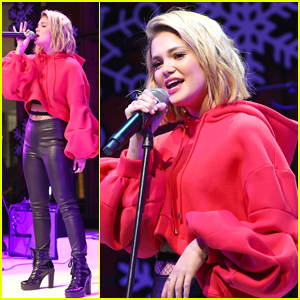 Olivia Holt Performs Holiday Songs at Live at the Atrium Holiday Concert Series