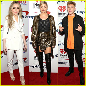 Sabrina Carpenter, Olivia Holt, Jake Paul, & More Stars Hang Out at Z100's Jingle Ball 2017