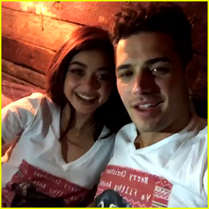 Sarah Hyland & Boyfriend Wells Adams Wear Matching Shirts on Christmas Eve!