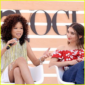 Storm Reid & Rowan Blanchard Speak On Stage At 'Teen Vogue' Summit