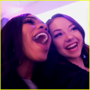 Teala Dunn & Meredith Foster Reunite at Dove Cameron x Bellami Launch Party (Video)