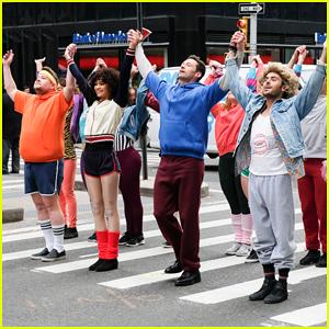 Zac Efron, Zendaya, and Hugh Jackman Team Up with James Corden in 'Crosswalk Musical'!