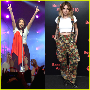 Grammy Nominees Alessia Cara & Julia Michaels Perform at Spotify's Best New Artist Party in NYC