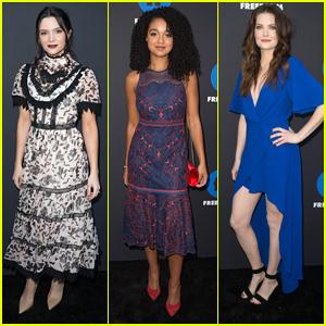 The Bold Type's Katie Stevens, Meghann Fahy & Aisha Dee Reunite at Freeform Summit