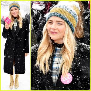 Chloe Moretz Braves the Snow for Women's Rally at Sundance!