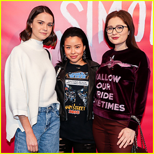 Maia Mitchell, Cierra Ramirez, & Emma Kenney Check Out 'Love, Simon' at Just Jared's Special Screening!