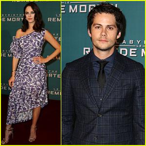 Dylan O'Brien & Kaya Scodelario Team Up for 'Maze Runner' Premiere in Paris