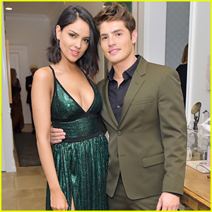 Gregg Sulkin Meets Up with Eiza Gonzalez at Esquire Party