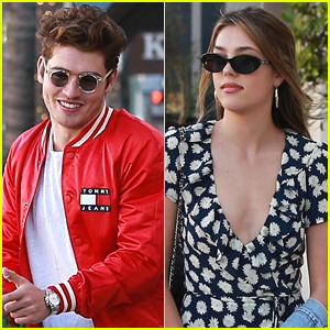 Gregg Sulkin is All Smiles at Lunch with Sistine Stallone!