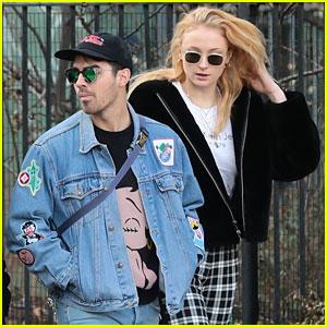 Joe Jonas & Sophie Turner Couple Up for Saturday Morning Stroll