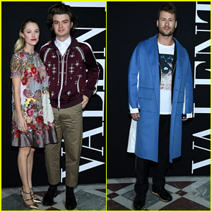 Joe Keery & Maika Monroe Make a Stylish Couple During Paris Fashion Week