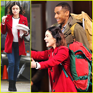 Lucy Hale & Elliot Knight Get Back To Work After Winter TCAs