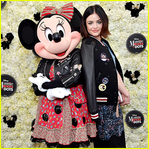 Lucy Hale Hangs With Minnie Mouse At Her Rock The Dots Party