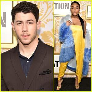 Nick Jonas Joins Normani Koredi at Roc Nation's Grammys 2018 Brunch