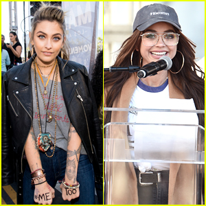 Paris Jackson & Sarah Hyland Attend LA's Women's March 2018!