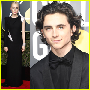 Lady Bird's Saoirse Ronan & Timothee Chalamet Hit Golden Globes 2018