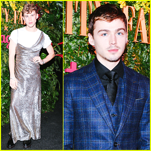 13 Reasons Why's Tommy Dorfman Rocks a Dress at Pre-Golden Globes Party