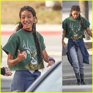 Willow Smith Looks Happy & Fashionable While Hanging With Friends!