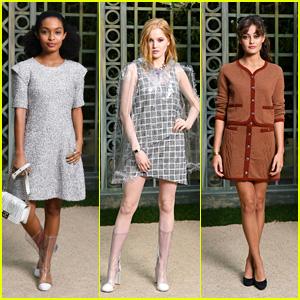 Yara Shahidi, Ellie Bamber & Ella Purnell Bring the Glam to Chanel Spring Summer 2018 Fashion Show!