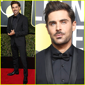 Zac Efron Looks So Handsome at Golden Globes 2018!