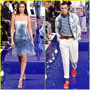 Bella Hadid & Anwar Hadid Make It a Family Affair at Ralph Lauren's NYFW Show