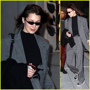 Bella Hadid Heads Out Into Town Rocking a Grey Suit During New York Fashion Week!