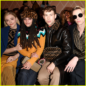 Chloe Moretz & Tommy Dorfman Sit Front Row at Fendi Show