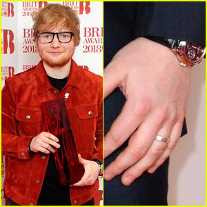 Ed Sheeran Explains His Silver Ring at BRIT Awards 2018