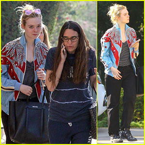 Elle Fanning Rocks Bold Jacket For Monday Meetings