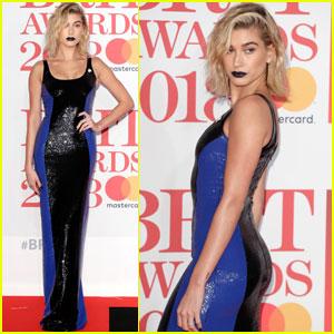 Hailey Baldwin Gets Edgy at Brit Awards 2018!