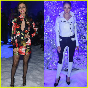 Victoria Justice & Larsen Thompson Get Chic For NYFW!