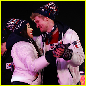 Figure Skaters Madison Chock & Evan Bates Share Sweet Dance During Olympic Closing Ceremonies