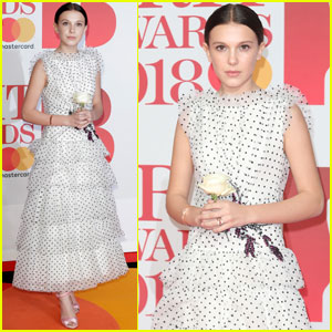 Millie Bobby Brown Is Pretty in Polka Dots at Brit Awards 2018!