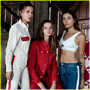 Millie Bobby Brown, Paris Jackson & Lulu Tenney Pose Together for Calvin Klein Jeans Spring 2018 Campaign - See Pics!