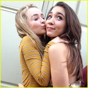 Sabrina Carpenter Reads Rowan Blanchard's New Book 'Still Here' at the Recording Studio
