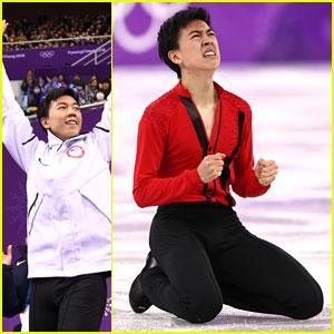 Vincent Zhou Lands 5 Quads, Places 6th at 2018 Winter Olympics