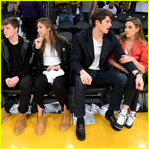 Sophia & Scarlet Stallone Have Double Date Night at Lakers Game