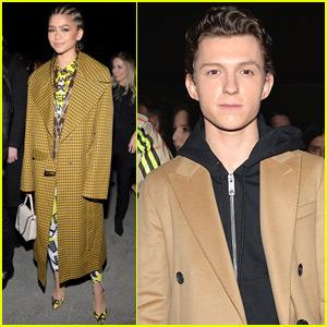 Zendaya Joins Tom Holland at Burberry Fashion Show!