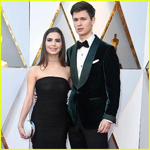 Ansel Elgort Attends Oscars 2018 with Girlfriend Violetta Komyshan