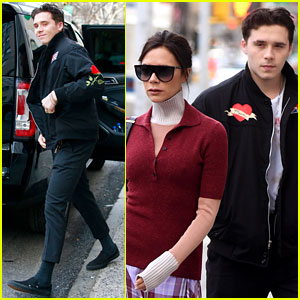 Brooklyn Beckham Flashes a Grin at Early Birthday Breakfast With Mom Victoria