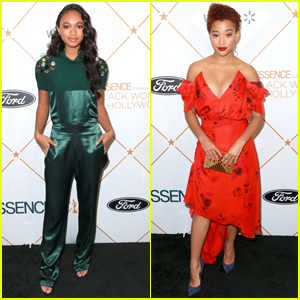 Chandler Kinney & Amandla Stenberg Step Out For Essence's Black Women In Hollywood Oscars Luncheon