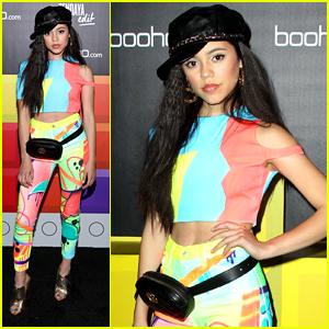 Jenna Ortega Rocks Bright & Fun Outfit For boohoo's Block Party