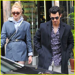Joe Jonas & Sophie Turner Look Tres Chic While Shopping in Paris