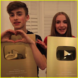 Johnny & Lauren Orlando Get Surprised With YouTube Gold Plaques