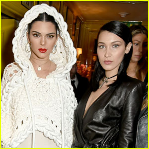 Kendall Jenner & Bella Hadid Hit the Beach Without Their Bikini Tops!