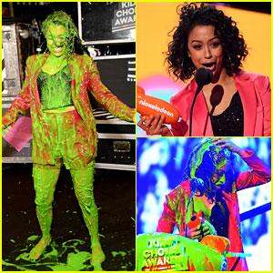 Liza Koshy Got Slimed TWICE at Kids' Choice Awards 2018! (Video)