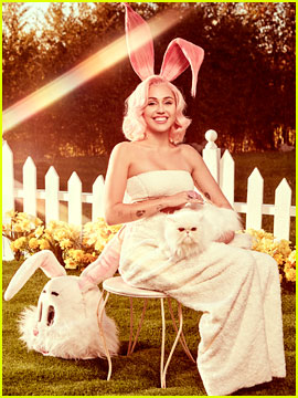 Miley Cyrus Channels the Easter Bunny in Dreamy Photo Shoot